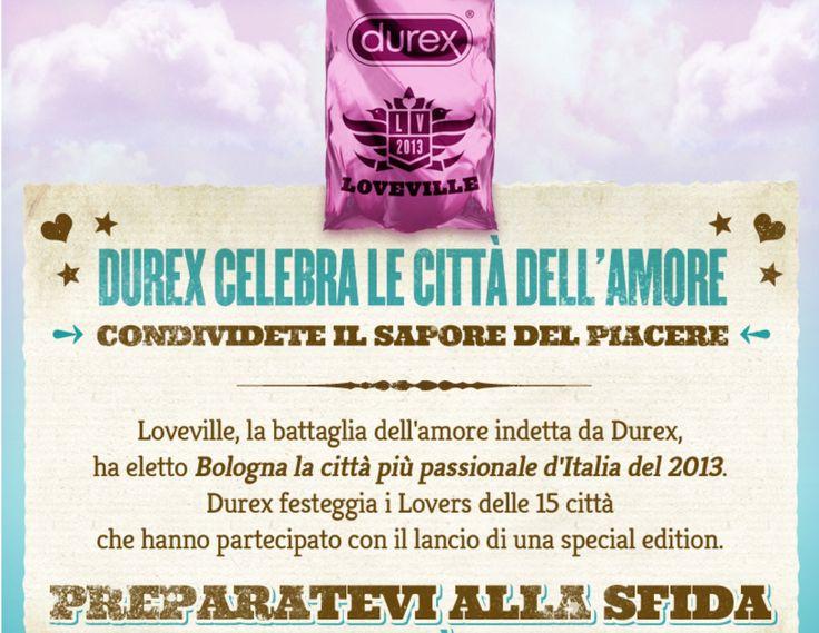 """Durex Loveville: Bologna la città più passionale del 2013, scoprite i condom """"Special Edition"""""""