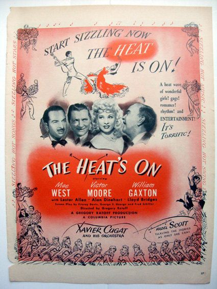 The Heat's On  1940s movie ad Mae West Old by DHBooksellers, $9.00