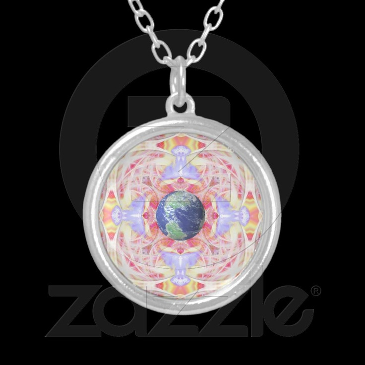 Mandala of Peace on Earth Necklace from Bill M. Tracer Studio. This image was among the first of the images included in the Impressions Project. Bill continues in the quest for others to join in the longing this image represents, and write their impressions inspired by it. You'll find the necklace with this image at: http://www.zazzle.com/mandala_of_peace_on_earth_necklace-177134898549665770?gl=BillMTracer=238473618442528962