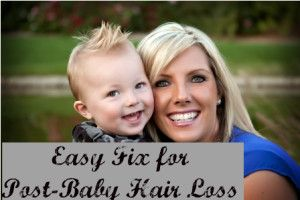 Something that works when I lose all my hair after I have a baby.