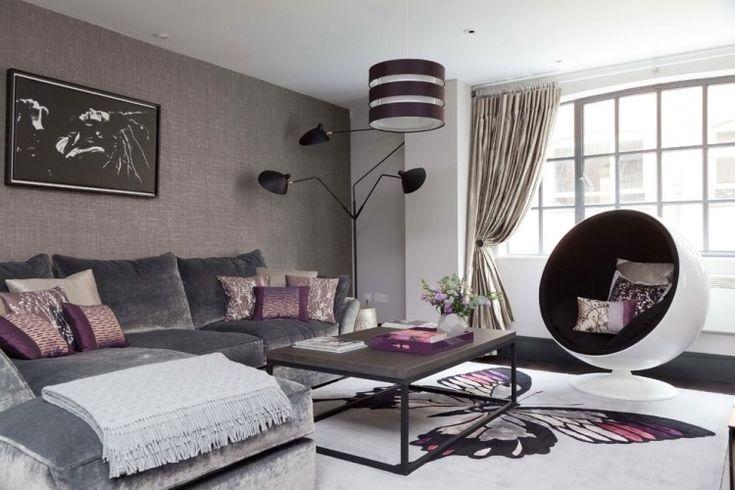 couleur aubergine et quoi l 39 associer dans chaque pi ce cuisine d coration et salons. Black Bedroom Furniture Sets. Home Design Ideas