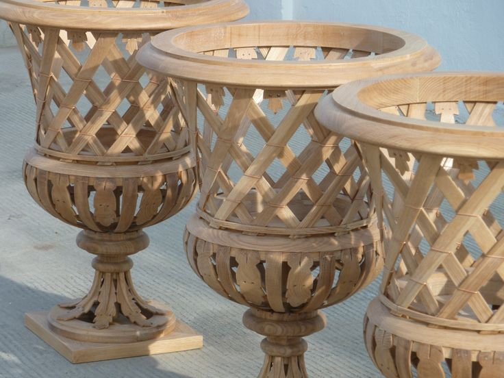 Trianon vases with wood. Beautifully crafted @accentsoffrance