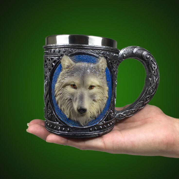 Wolf beer mug. Другие необычные кружки для пива смотри по ссылке http://blogosum.com/posts/promo-posuda