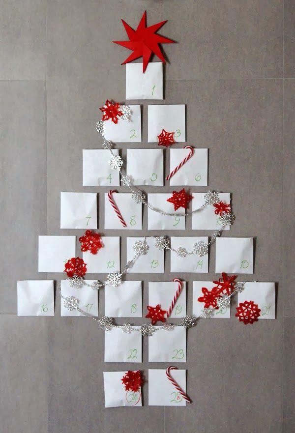 decoracion facil arboles de navidad en la pared