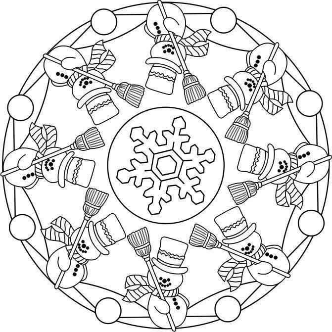 winter coloring pages mandala - photo#2