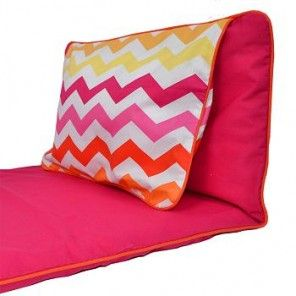 Chevron Stripes Pinks Nap Mat  - *This nap mat is PINK with Chevron Stripes as shown. However, we do show photos of other mats with different prints so you could see what they look like folded and opened up.