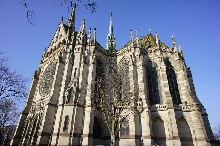 https://flic.kr/p/e3KDFz   Speyer church   Speyer Gedächtniskirche church exterior showing the transept and the apse of this wonderful neogothich architecture. Rhineland-Palatinate, Germany