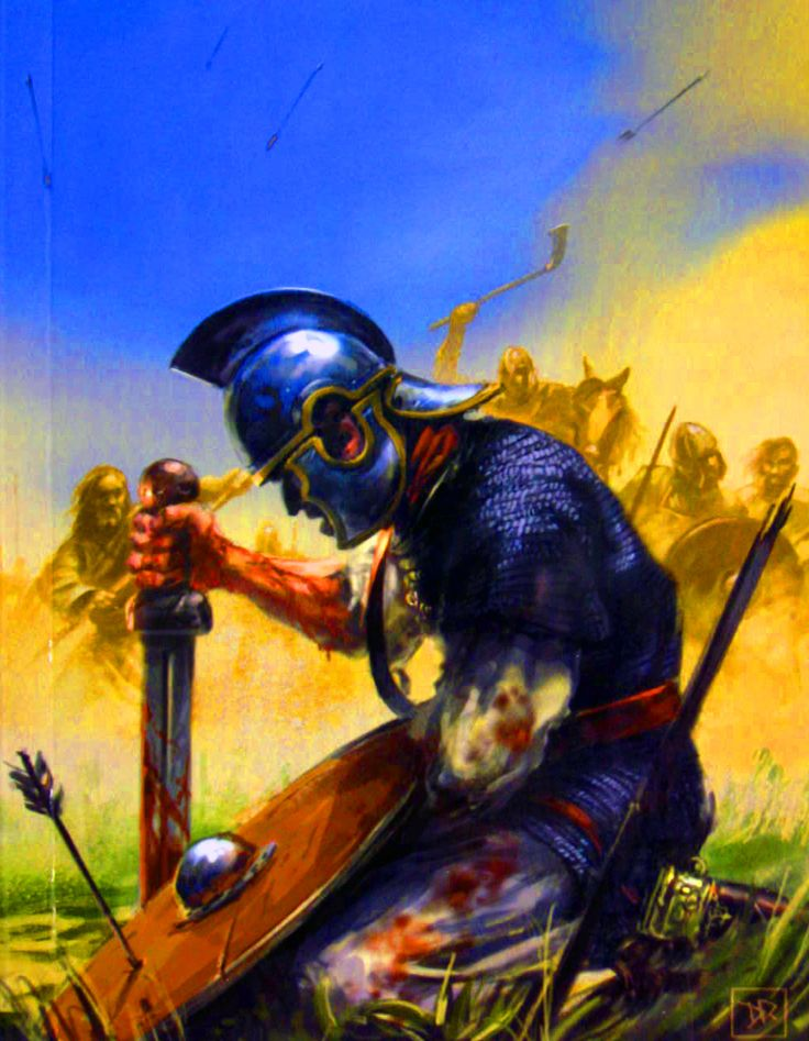 Defeated legionary of the Eastern Roman Empire by the Visigoths at the Battle of Adrianople