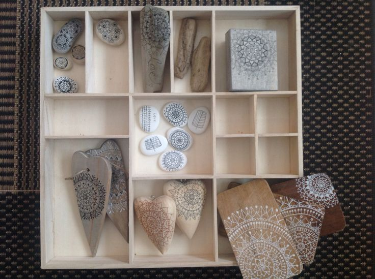Mandalas, Driftwood, Stones