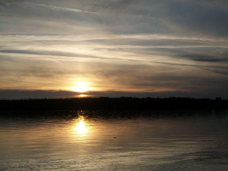 закат река Волга