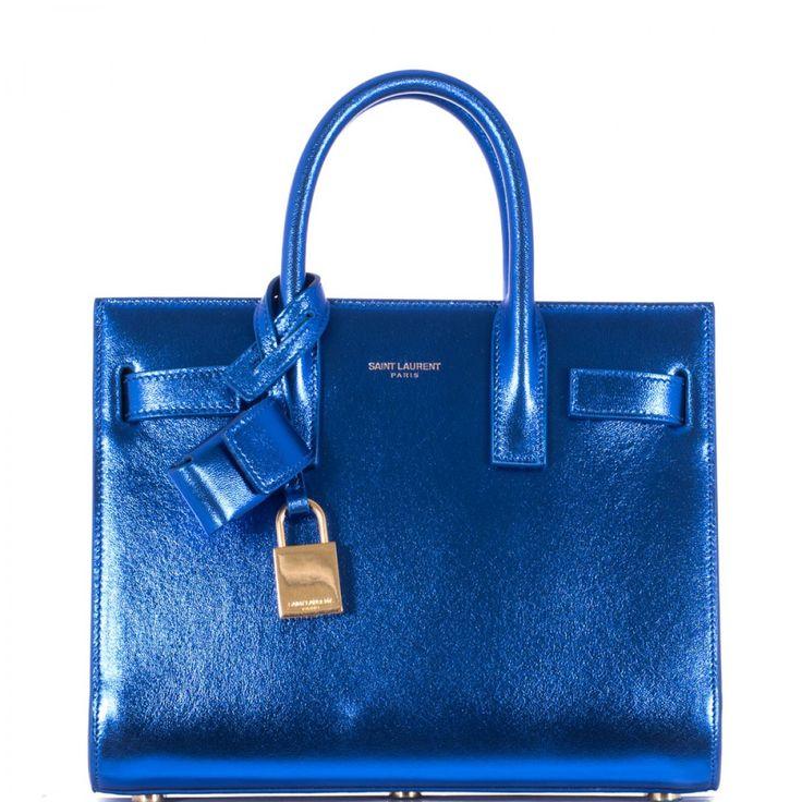 Saint Laurent | Blue Sac De Jour Nano Bag | Lyst