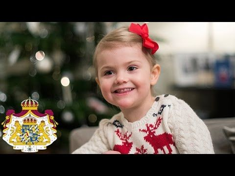 Christmas Greetings from Princess Estelle......Posted on December 19, 2014 by HatQueen...The Swedish Royal Court released pictures and video of Princess Estelle helping her parents decorating their Christmas tree.