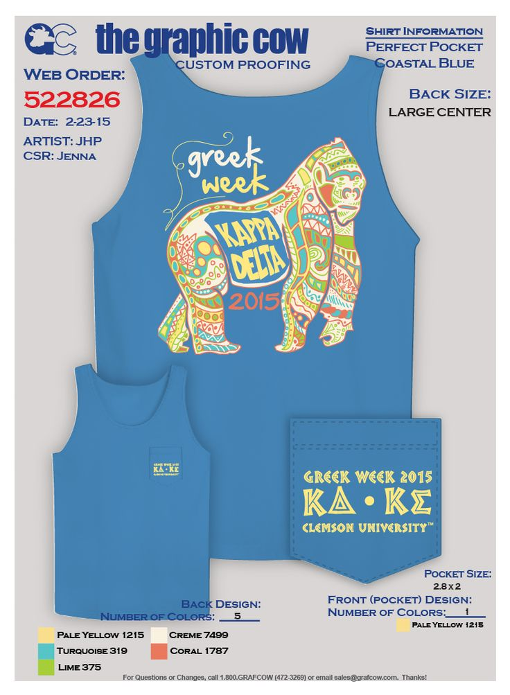 K∆ and K∑ Greek Week Shirt! Disney Themed--Tarzan Team! Also featured on Graphic Cows Shirt of the month! Clemson University