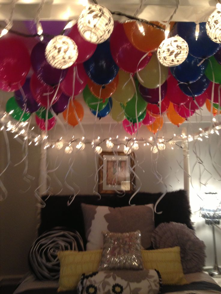 The perfect sweet sixteen decorations to wake up to for 16th birthday decoration