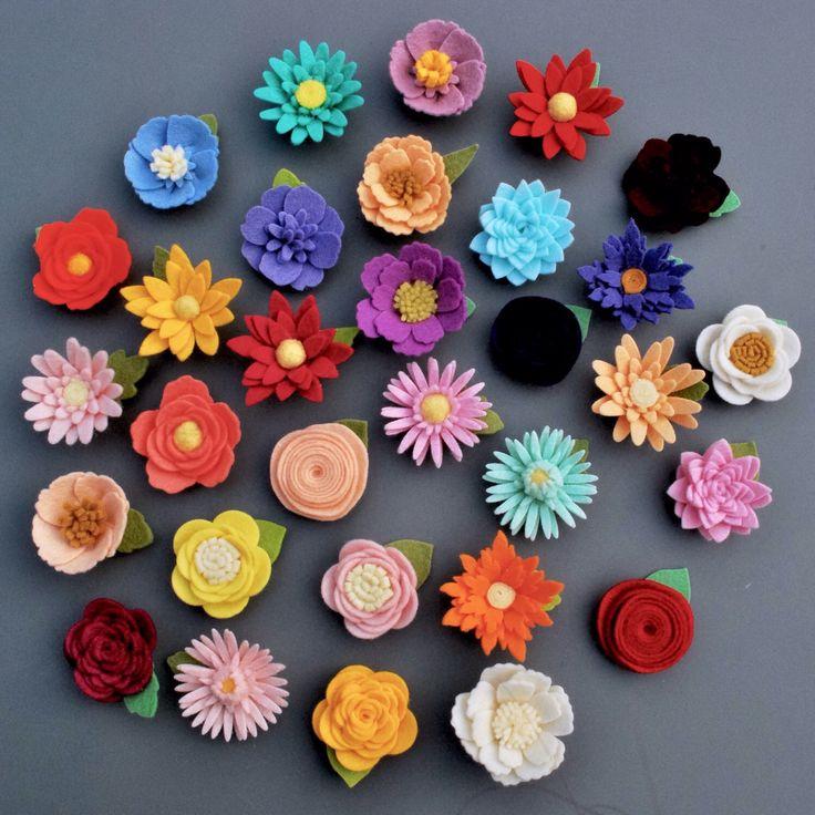 CUSTOM Felt Flower Magnet 100% Wool Felt by heartfeltpetals on Etsy https://www.etsy.com/uk/listing/500025767/custom-felt-flower-magnet-100-wool-felt