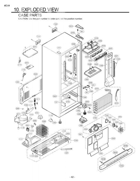 LG Refrigerator LBC22518ST Parts List
