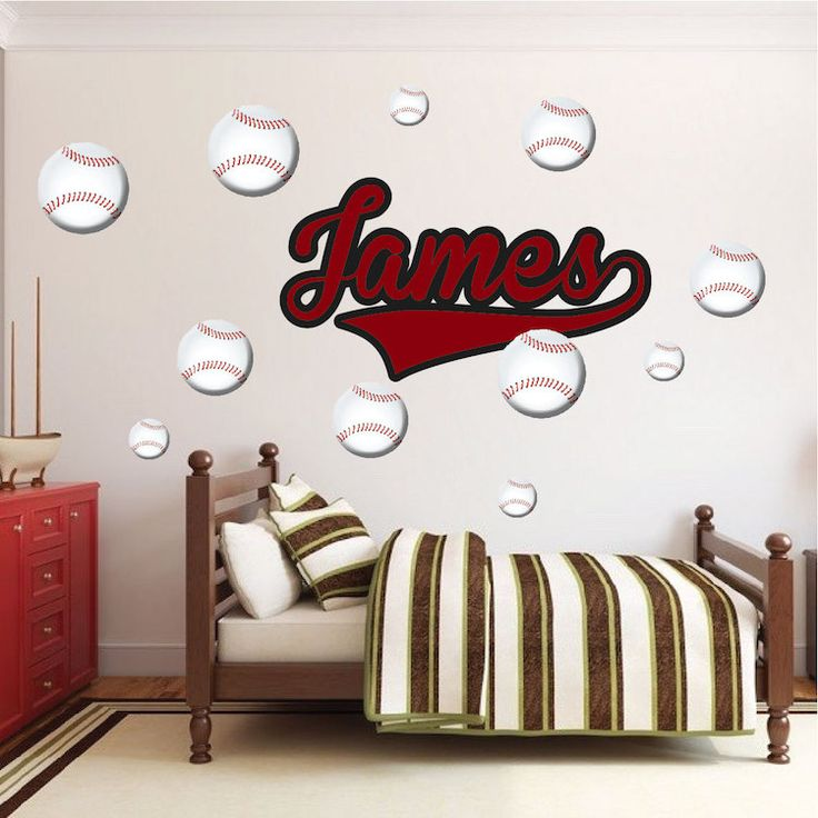Baseball Wall Decals Sports Wall Decal Baseball Wall By PrimeDecal