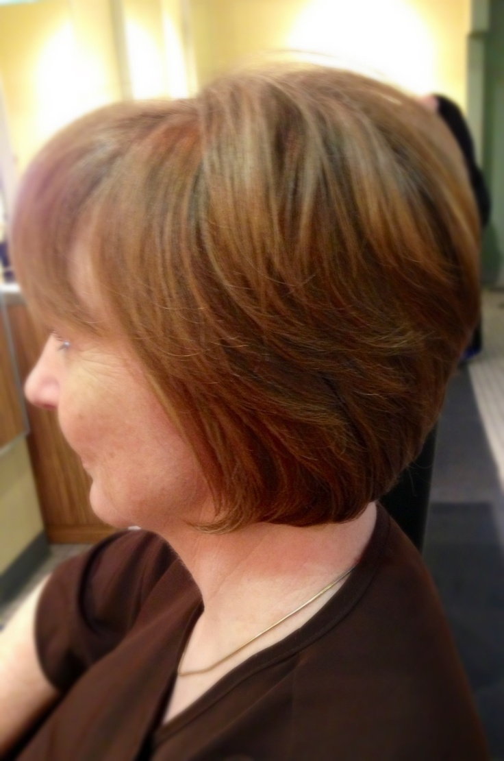 modified shag haircut modified bob with graduated layers hairstyle 2013 5423