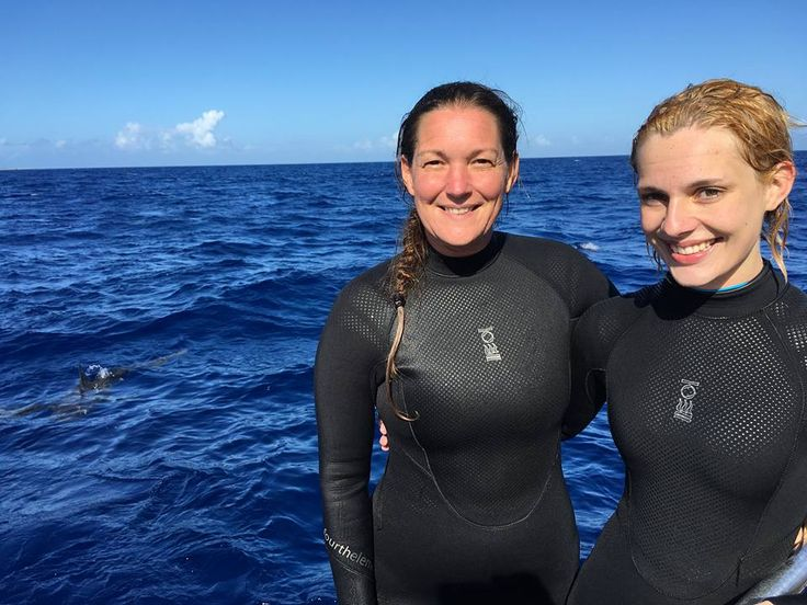 Shark Diving  fourth element Dive Team members Amanda Cotton and Gemma Smith  #fourthelement #shark #diving