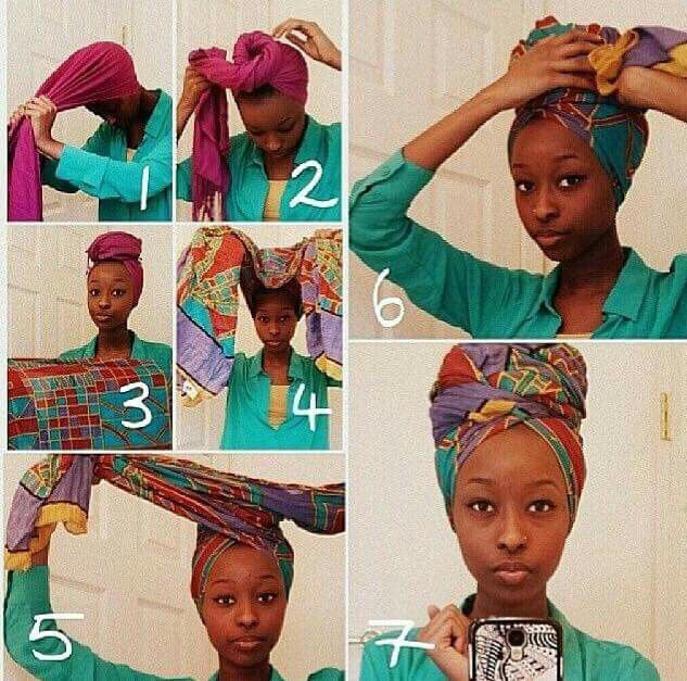 "How to wrap a ""Badu"" wrap without a fro."