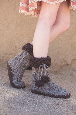 Crochet Pattern: Patagonia Slipper Socks by Brenda K. Anderson for Crochetscene 2017