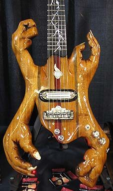 Helping Hands Guitar ~~   DeGennaro had a guitar that made the Oddities List