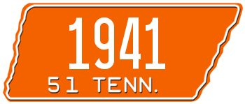 1951 TENNESSEE STATE LICENSE PLATE - EMBOSSED WITH YOUR CUSTOM NUMBER [usatn51] - $95.00 : Custom Front License Plates, Personalized Vanity Auto Plate -LICENSEPLATES.TV