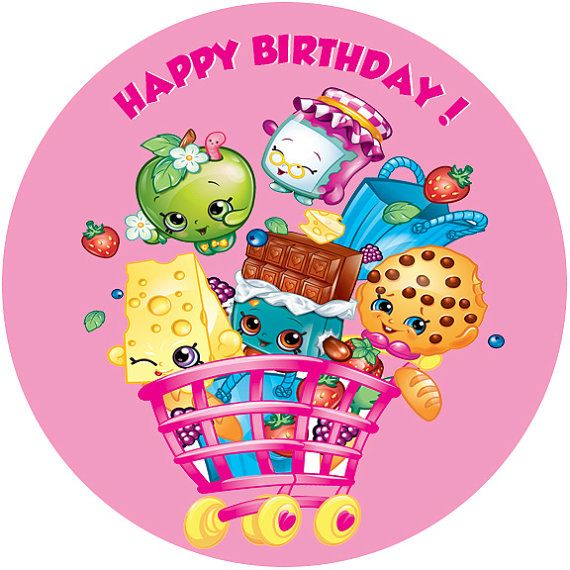 SHOPKINS edible image birthday cake and cupcake by ...