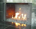 This site can answer a bunch of questions regarding Fireplace design ideas featuring Aquatic Glassel