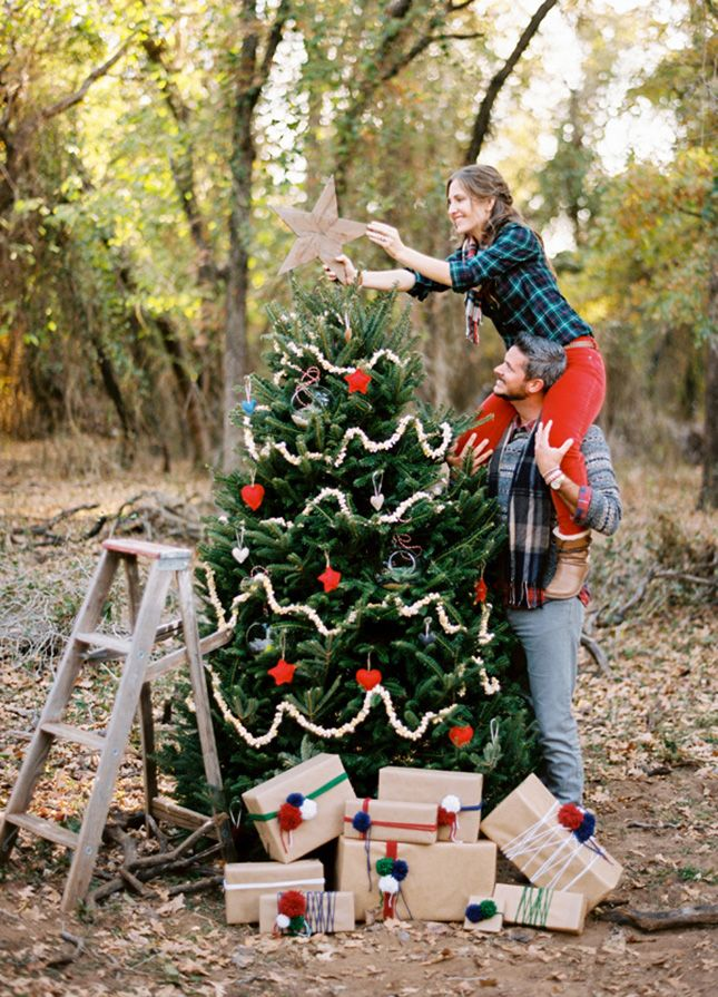Trim the tree during your engagement shoot.