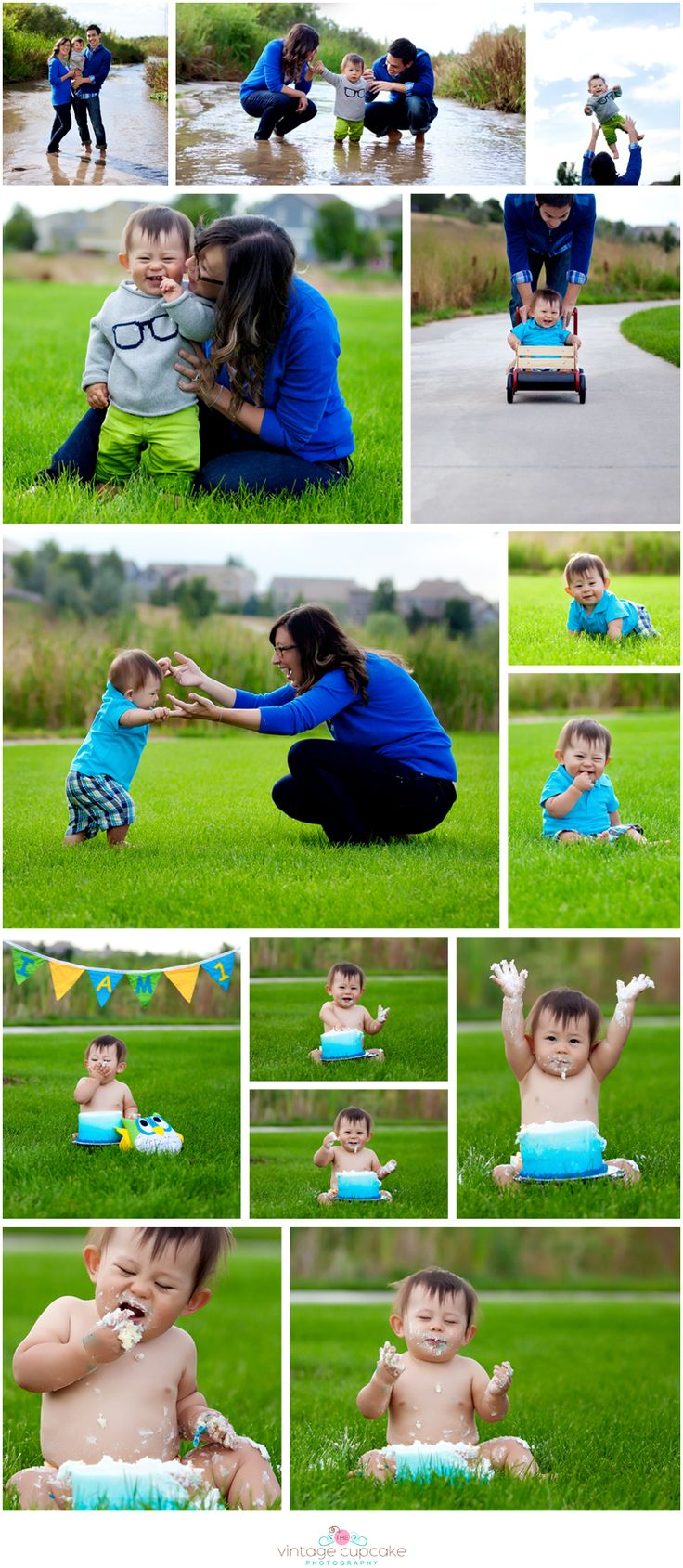 one year cake smash session, denver, colorado child and family photographer - the vintage cupcake photography