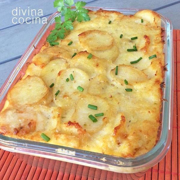 Gratén de bacalao con patatas < Divina Cocina