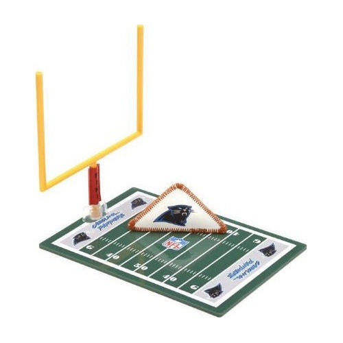 """Carolina Panthers Fiki Football: For decades millions have folded a sheet of paper into a triangle """"football"""" sliding it back and forth across a table in an attempt to score a touchdown. An opponent's outstretched fingers forming a goalpost for field goals and extra points. Today the game is called FIKI Football and features the NFL logo of your favorite team.  $7.99  www.calendars.com..."""