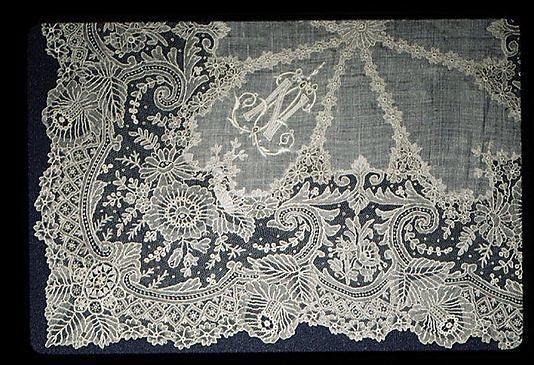 Lace Handkerchief, Belgian (Brussels), 19th century.