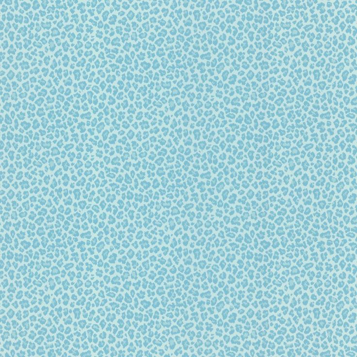 Brewster Sassy Cheetah Print Wallpaper Aqua - 443-62508