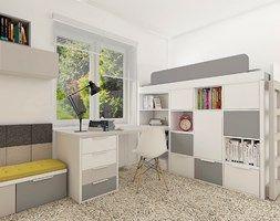 White/grey room for boy. Biało-szary pokój dla chłopca. Meble firmy Colorato. www.colorato.pl