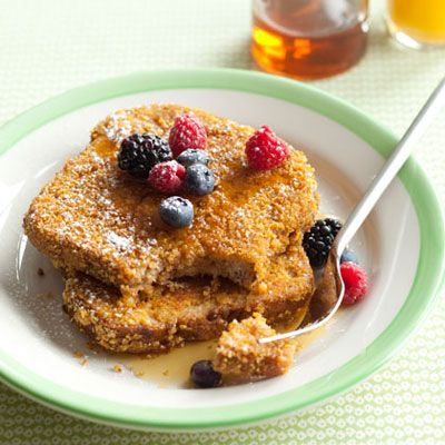 Got Cornflakes? You'll LOVE this Cornflake Crunch French Toast, under 300 calories! | health.com