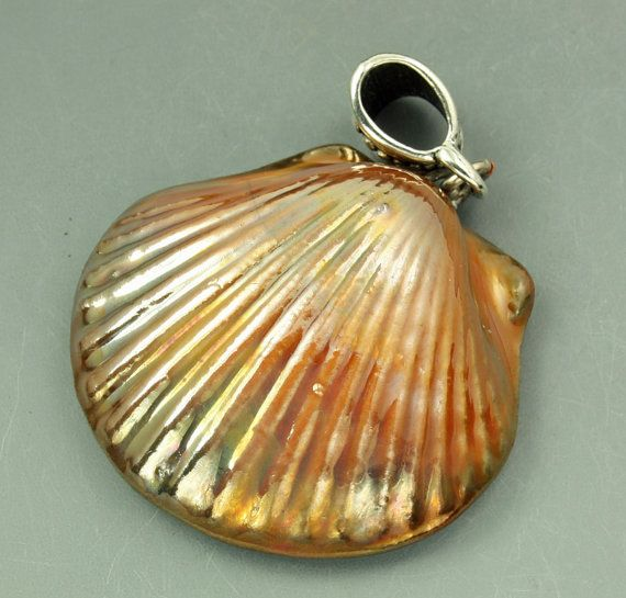 424 best raku pendants and stoneware pendants images on pinterest raku seashell pendant aloadofball