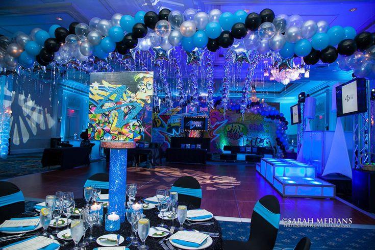 Graffiti Centerpiece Graffiti Themed Bar Mitzvah