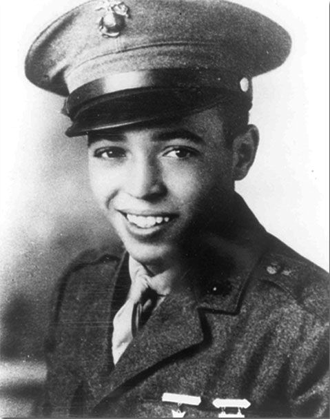 Private 1st Class Harold Gonsalves, U.S. Marine Corps Medal of Honor award winner as a result of brave actions during the Battle of Okinawa, Ryukyu Islands, World War II April 15, 1945.