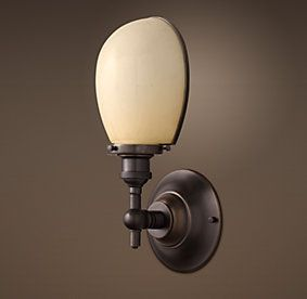 Bathroom Wall Sconces Restoration Hardware : Bathroom option Sconces Restoration Hardware Booksellers Decor Pinterest Wall lighting ...