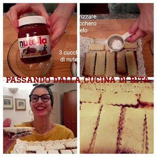 Passando dalla cucina di Rita: biscotti teneri ripieni di crema alla nutella e ma...
