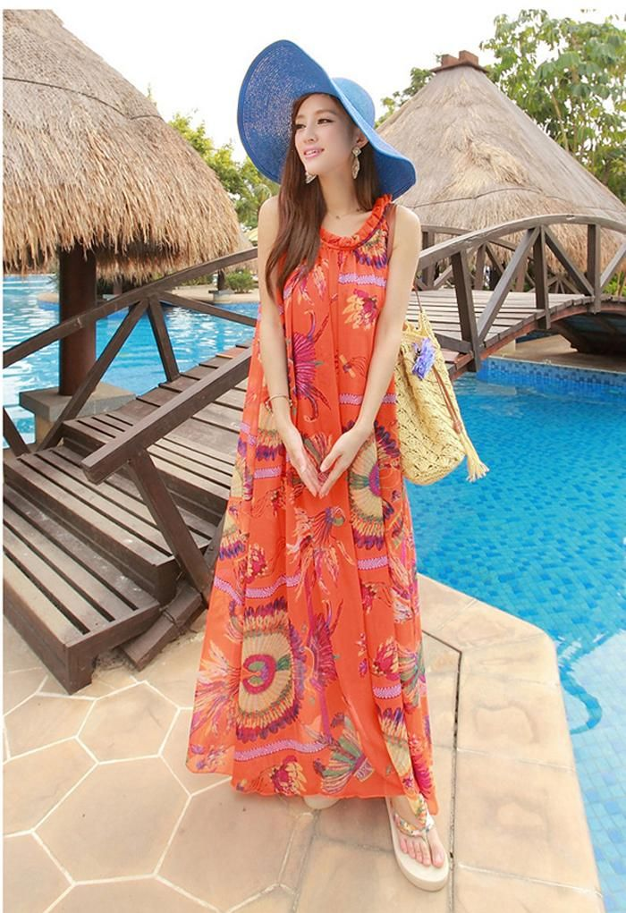 Find More Dresses Information about Summer Boho Dress Long Women Bohemian Chiffon Maxi Dresses 2016 Beach Plus 329 crazy sale on the go! hurry up!  using your coupon! get super deal!  maxi dress clothing,China maxi dress petite women Suppliers, Cheap maxi dress purple from Elegant Times on Aliexpress.com