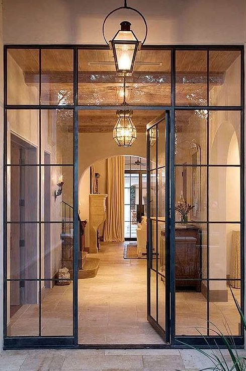 Great example that steel framed windows and doors are suited to not only modern but traditional architecture.