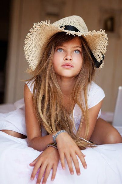 This is a child model from France I believe, I can't recall her name, what a naturally pretty girl