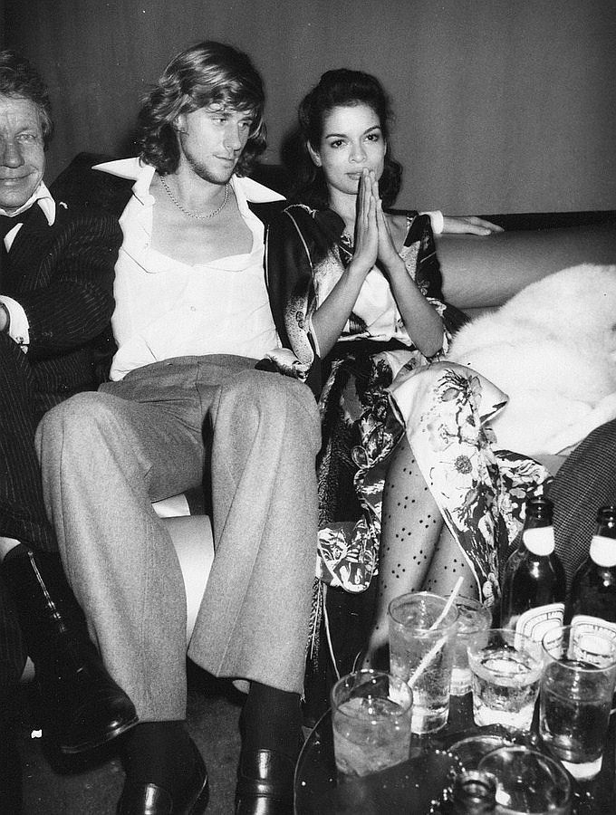 Bjorn Borg and Bianca Jagger at Studio 54, 1978.