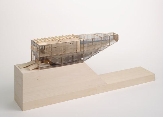 Kuth/Ranieri Architects  (San Francisco, California, Established 1990)  Byron Kuth  American (1953)  Elizabeth Ranieri  American (1963)  Horizon House    1994  Architectural Model | wood, wax, and plastic