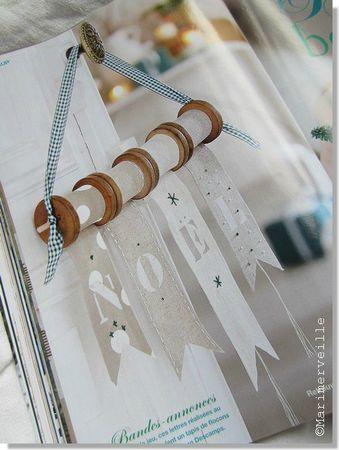 Bobines de fil récup fanions Noël