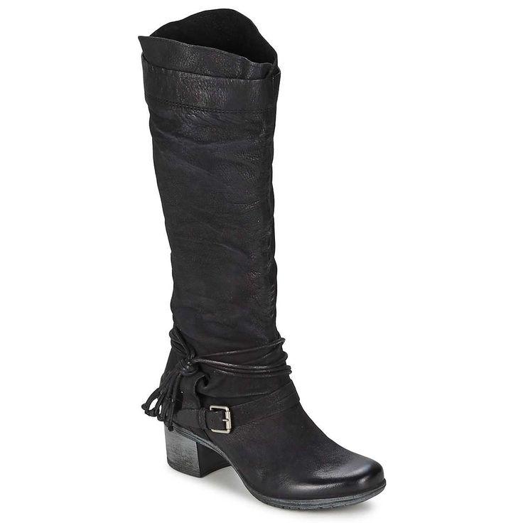 Dream in Groen ORTIK Zwart - Schoenen laarzen Dames 149.00 goed toll  W6320016046