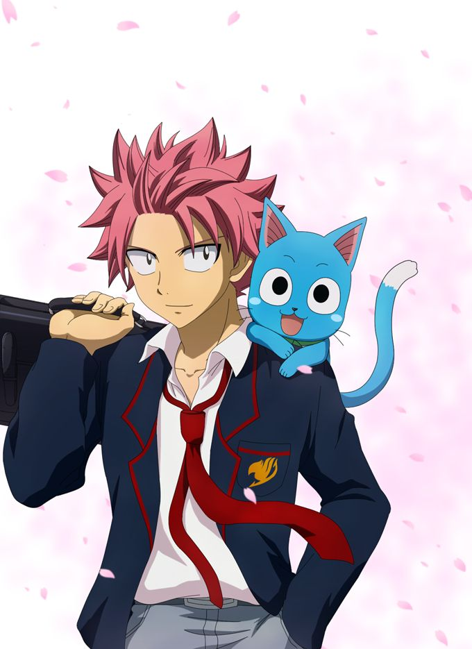 484 best images about fairy tail natsu and lucy on - Fairy tail happy and natsu ...